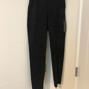 Zara Black Stretch Suede Pants!